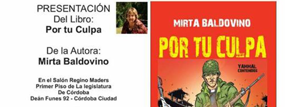 Mirta Baldovino presenta su libro