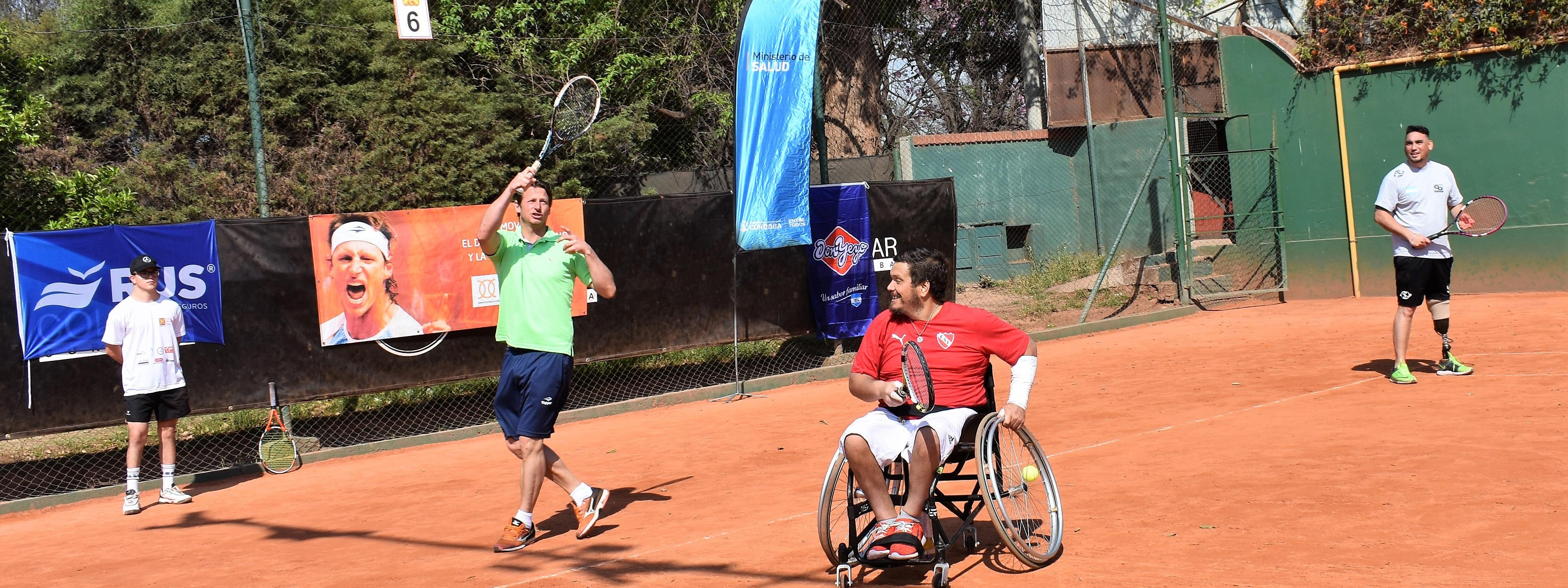 TENIS PARA TODOS: La Fundación Nalbandian aportó otro granito a la inclusión deportiva