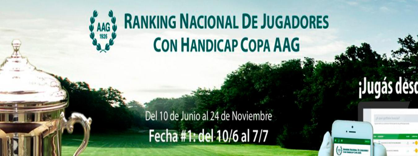 COPA AAG: Se lanza el Ranking Nacional de Jugadores con Hándicap