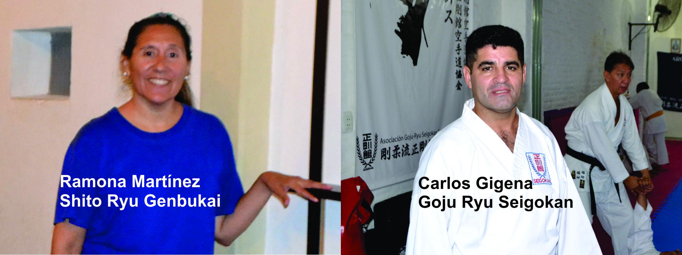 ENTRENADORES: Carlos Gigena y Ramona Martínez, las dos caras de la moneda de un arte marcial milenario