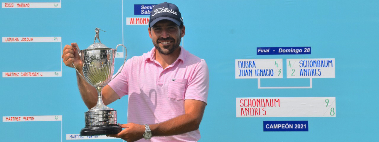 GOLF: Andy Schönbaum (h), nuevo campeón del Argentino de Aficionados