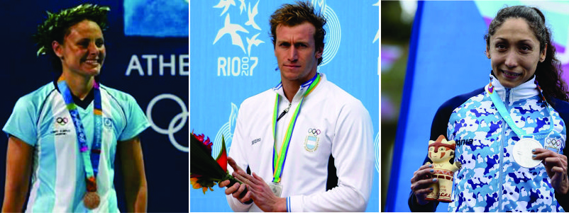 NATACIÓN: Georgina Bardach, José Meolans y Cecilia Biagioli, el podio de oro de la natación cordobesa
