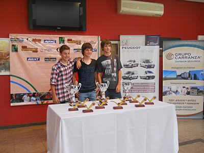 Campeones del Circuito Talento Tenis 2012
